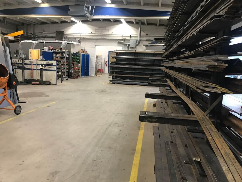 Schøller stål ApS værksted hvor produktionen foregår